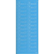 Stickers barnedåb lyseblå 6679