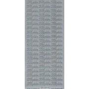 Stickers tillykke sølv 631