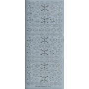 Stickers snefnug sølv 442