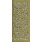 Stickers blomsterhjørner guld 4102