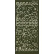 Stickers 50 guld 4148