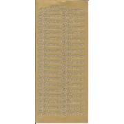 Stickers Velkommen guld 45 276