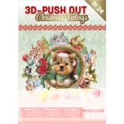 A4 bog 8 udstansede og 8 design ark julemotiver