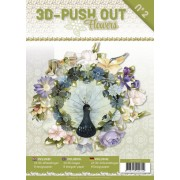 A4 bog 8 udstansede og 8 design ark blomster