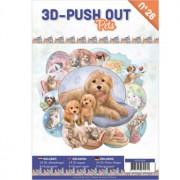 A4 bog 8 udstansede og 8 design ark kæledyr