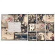 Just Married papirblok 10 x 10 cm. 18 ark