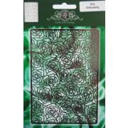 Lin & Lene Design stencil embossing roser baggrund