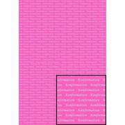 Tekstark A4 konfirmation hvid på pink