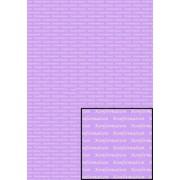 Tekstark A4 konfirmation hvid på lilla