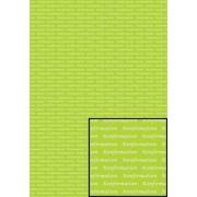 Tekstark A4 konfirmation hvid på limegrøn