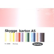Skyggekarton A5, 48 ark, 4x12 farver