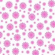 Karton blomst rød/pink 14 x 28 cm