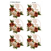 3D ark roser i hvid / orange farver med tekst
