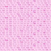 Takkekort pink / rosa 14 x 28 cm.