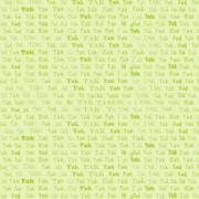Takkekort limegrøn 14 x 28 cm.