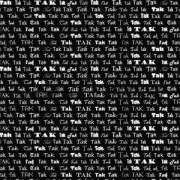 Takkekort  hvid på sort 14 x 28 cm.