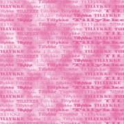 Tillykkekort 14 x 28 cm. pink / marmoreret