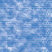 Tillykkekort 14 x 28 cm. blå / marmoreret