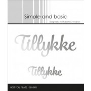 """Simple and basic Hot Foil Plate """"Tillykke"""""""
