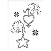 Stempel / clear stamps  flyvende december
