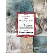 Felicita Designblok 24 ark 7 x 10 cm. Winter Landscape