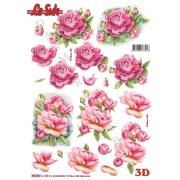 3D ark roser udstanset