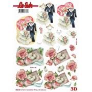 3D ark bryllupstøj udstanset