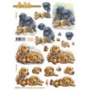 3D ark labrador udstanset