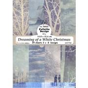Felicita Designblok 24 ark 14,8 x 10,6 cm. Dreaming of a White Cristmas