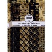 Felicita Designblok 24 ark 14,8 x 10,6 cm. Art deco of Cristmas