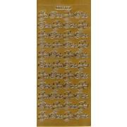 Stickers God Påske guld 751