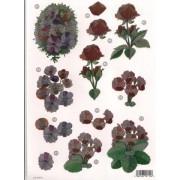 3D ark blomster udstanset metallic