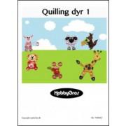 Quillinghæfte med dyr