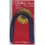 Quillingstrimler 3 mm. x 297 mm. mørk lilla majestic