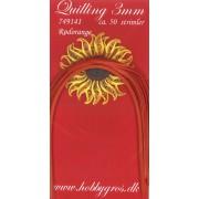 Quillingstrimler 3 mm. x 297 mm. rødorange majestic