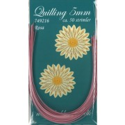 Quillingstrimler 5 mm. x 297 mm. rosa majestic