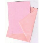 25 kort (A5) med kuverter (C6) rosa/lyserød