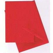 25 kort (A5) med kuverter (C6) rød