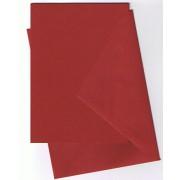 25 kort (A5) med kuverter (C6) vinrød