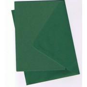 25 kort (A5) med kuverter (C6) gran grøn