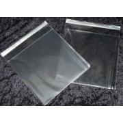 Cellofanposer 12,5 x 12,5 cm klar m/ limluk