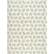 Pergament / Wellum hvid transparent med hvide sløjfer A4