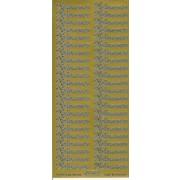 Stickers Velkommen guld 636