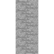 Stickers glædelig jul sølv 654