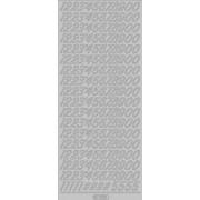 Stickers tal sølv 1032