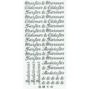 Stickers Bedste / oldeforældre sølv 8014