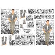 3D ark ung mand v. murstensvæg