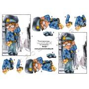 3D ark mandlig betjent