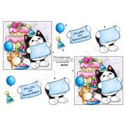 3D ark fødselsdags kat