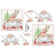 3D ark julemand og rensdyr